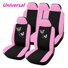 Universal Auto Sitzbezug Sitzbezüge Schonbezüge Hot Pink Rosa Schmetterling Kfz
