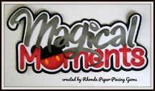 Disney Magical Moment title paper piecing for Premade Scrapbook Pages by Rhonda