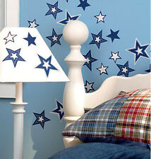 WALLIES GLOW IN THE DARK STARS wall stickers 25 prepasted decals nursery decor