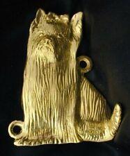 Yorkshire Terrier, Yorkie Hook in Bronze