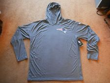 Authentic Nike Dri-Fit New England Patriots L/S NFL Hoodie Men 2XL TAGS NEW NICE