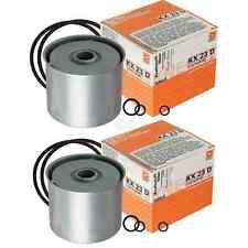 2x MAHLE / KNECHT KX 23D Kraftstofffilter Fuel Filter