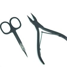 2 pcs HETZER SOLINGEN SET POINTED INGROWN NAIL NIPPER CUTICLE CURVED SCISSORS