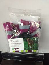 Good 2 Go All weather Boots For Dogs Sz Lg Pink Brand New Still in Pkg.