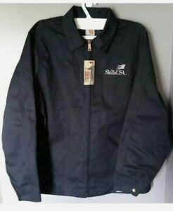Carhartt vintage style  Mens Black White Work Jacket Skill USA sz XL NWT