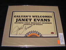 Janet Evans Olympic Gold Medalist Swimmer Signed 8 x 10 Photo COA Matted #2 H5