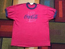 Vintage 90s Coca Cola Classic Coke T shirt sz XL Soda Ringer Red 6 Pack