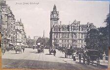Postcard Princes Street Edinburgh Scotland Valentine North British Station Hotel