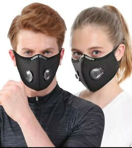 Outdoor Cycling Half-Face Mask Activated Carbon Respirator With filter
