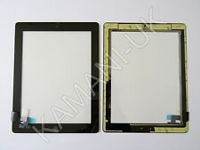 For iPad 2 Touch Screen Digitizer Glass Replacement Black with Home Button Glue