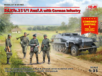 ICM 35103-1/35 Ausf.a with German Infantry Sd.kfz.251/1 plastic model kit scale