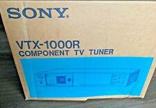 VINTAGE SONY COMPONENT TV TUNER, VTX-1000R,NEW, Black