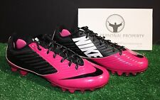 NIKE VAPOR SPEED LOW TD FOOTBALL CLEATS BREAST CANCER BCA PINK BLACK MENS 13.5