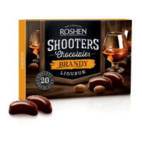 "Box Sweets ROSHEN ""Shooters"" Chocolate Candy with Brandy Liqueur 150g / 5.3 oz"