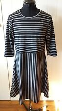 Boohoo Plus 3/4 sleeve black and white dress Size 20UK  New with tags
