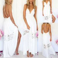 Women Boho Summer Long Maxi Beach Dress Party Evening Cocktail Wedding Dress Hot