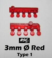 LIGHTS 3 mm RED 10 UNITS TYPE 1 - FAROS FARE FARO RESIN SLOT KIT DETAIL SET