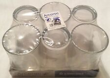 6 Pack Arcoroc Professional Conique 20 CL 6 3/4 oz Highball Drinking Glasses New