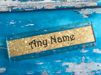 personalised ruler - Add your name - Double Sided - School - Gold Design