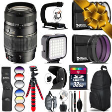 Tamron 70-300mm Lens for Canon - Video Kit + Color Filter - 32GB Accessory Kit
