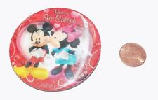 MICKEY & MINNIE MOUSE HAPPY VALENTINE'S DAY Pin PINBACK NEW RARE HTF MOVING PIC