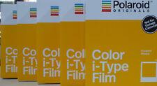 5x Polaroid I-type film color neuf neuf dans sa boîte 5x 8 images instantanés instantanés