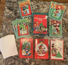 Vintage Greeting Cards Christmas Disney Mickey Mouse Minnie Donald Duck Pluto