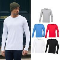 SF Feel Good Long Sleeved Stretch T-Shirt (SF124) - Plain Casual Tee