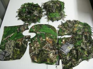Lot of 5 Mothwing Hat Facemask Hood Leafy 3D Spring Green Deer Bow Hunting Camo