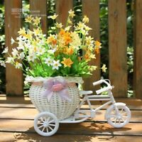 Plastic Tricycle Bike Design Flower Basket Container For Home Wedding Decor