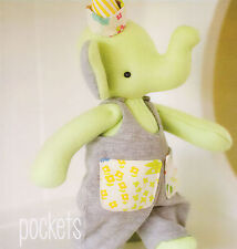 Pockets Elephant - Sewing Craft PATTERN - Soft Toy Felt Doll Bear