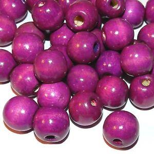 WX652 Purple 18mm Semi- Round Wood Beads 16-oz Package (280pcs)