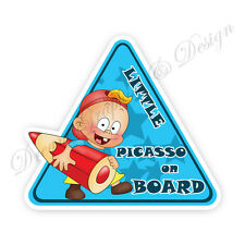 Baby on Board Child Full Color Adhesive Vinyl Sticker Window Car Bumper #076