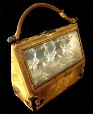 Baccarat Scent Perfume Bottles in Charming Handbag Casket & Bevel Glass
