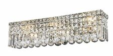 """6-Lights 24'x 6.25"""" Cascade Vanity Clear Crystal Wall Sconce Chandelier Light"""