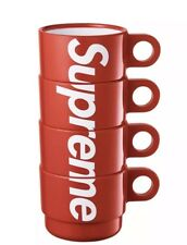 Supreme Stacking Cups Set of 4 Red SS18 LIMITED 100% Authentic BRAND NEW