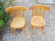 Paire de chaises en bois clair Thonet 1920-1930 bistrot