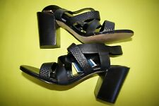 Isola Falmouth Heels sandal shoes sz 7 Black Leather Strappy NEW