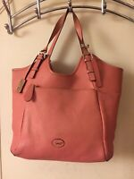 Paul Costello Large Pink Genuine Leather Tote Hobo Grab Shoulder Handbag