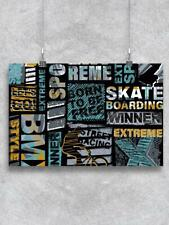 Abstract Extreme Sports Pattern Poster -Image by Shutterstock
