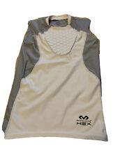 McDavid Hexpad 7610 Sternum Sleeveless Baseball Shirt Youth Medium White/Gray