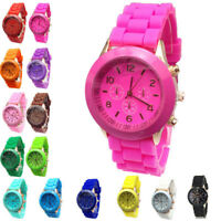 Fashion Silicone Quartz Wrist Watches Women/Ladies/Girls Bracelet Analog Watches