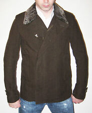 Valentino Men's Brown Peacoat with Detachable Lining - Size 38 - Made in Italy