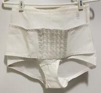 VTG Vesta Corset High Waisted Girdle Panty Brief Tummy Control Shaper White 2X