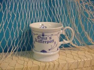 Ocean-Line Kapitänstasse Indisch blau <<<Omas Kaffeepott <<< innen Blume