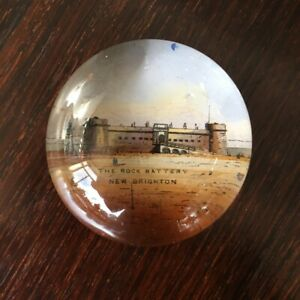 Victorian Glass Paperweight -  THE ROCK BATTERY NEW BRIGHTON C. 1880
