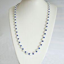 Halskette Ceylon - Mondstein LapisLazuli Steinketten Damen Exclusiv Rarität