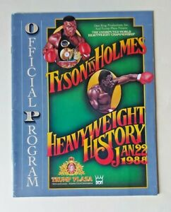1988 - Mike Tyson v Larry Holmes, World Heavyweight Title Programme