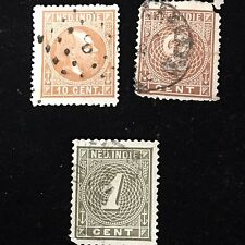 1870-89 Dutch Indies Postage Stamps Used Lot of 3