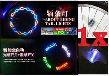 .One Bicycle Bike Wheel Spoke Light Flash 7 LED 30 Different Patterns AU Local